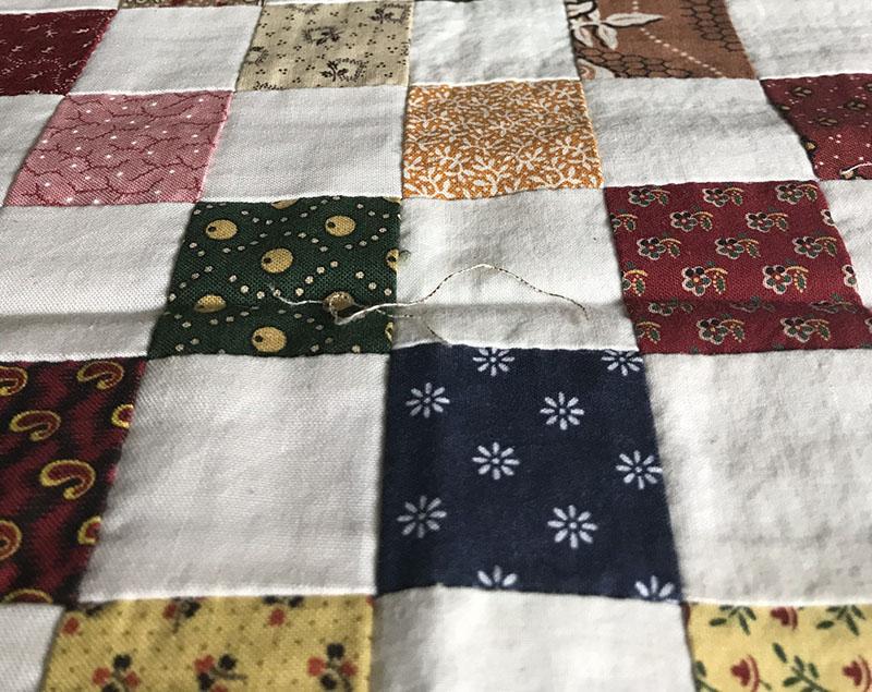 hand pieced quilt squares